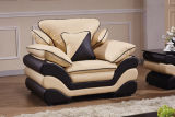 居間1+2+3の本革のコーナーのソファー