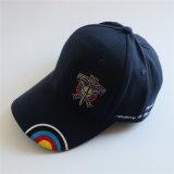 Qualitäts-normale schwarze aufgetragene Baumwoltwill-Golf-Schutzkappe