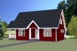 관광 지역 빛 강철 구조물 집 조립식 가옥 집에 있는 집