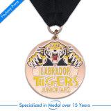 Médaille faite sur commande de estampage en laiton antique de souvenir avec la lanière