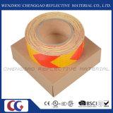 Fita de advertência reflexiva da evidência autoadesiva da seta do PVC para os reboques (C3500-AW)