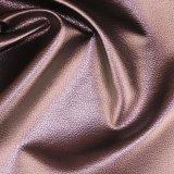 Cuoio sintetico del PVC del grano di riserva poco costoso del litchi per il tessuto del sofà (806#)