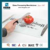 Nueva tarjeta del corte del vidrio de la impresión de la pantalla de seda del diseño, tajadera para los utensilios de cocina