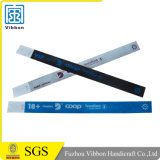 O costume 3/4' Waterproof Wristbands de Tyvek para o evento do partido