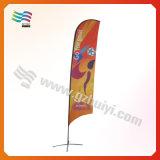Ткань полиэфира оба флага пляжа пера стороны напечатанных изготовленный на заказ