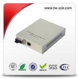 convertitore di media di Ethernet della fibra di 10/100m 1310nm MP con potere esterno dello Sc dell'argento nero 60km