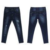 2017 de Lady impressão de lavagem Skinny Jeans Moda (MYB07)