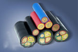 PVC проводника VV 3-Core Coppe изолировал силовой кабель обшитый PVC