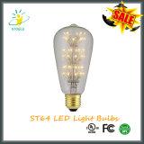 Светильника Edison шарика Stoele St64 2W свет шнура звёздного СИД энергосберегающий