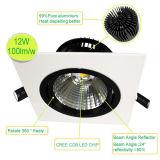 Embutir la MAZORCA ajustable rotativa LED Downlight de Dimmable 7W del techo