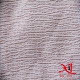 Ткань розового шелковистого полиэфира морщинки шифоновая для платья