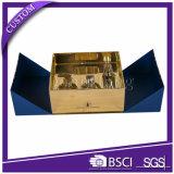 Populäres glattes steifes Papiergeschenk-verpackenhaut-Sorgfalt-gesetzter Kasten