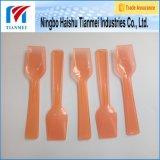 cuchara plástica transparente de la pala de 97m m/cuchara del yogurt congelado