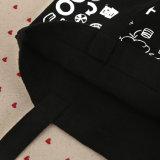 sac de loisirs d'élève de couleur de noir de la toile 8oz pour le livre de transport