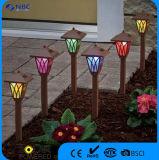 Lumière solaire changeante de jardin de lumière d'horizontal de la couleur DEL de RVB