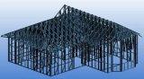 Estructura de acero ligera que forma la máquina