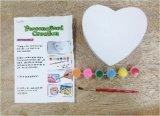 Коробка ювелирных изделий Игрушк-Сердца создателя искусствоа малышей покрашенная DIY