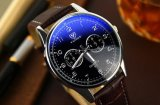 Планка любовника пар тавра случая нержавеющей стали способа кожаный наблюдает wristwatch