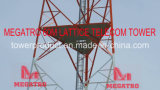 Megatro 60m Gitter Scada-Telekommunikation System Tower