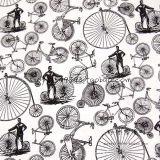 2017 남자를 위한 볼링 셔츠를 인쇄하는 Retro 자전거 패턴