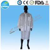 Wegwerf-SBPP/PP+PE/SMS Breathable Labormantel mit Shrit Muffe