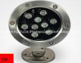 최신 판매 좋은 품질 LED 지하 빛 3W 12V는 색깔 LED 지면 빛을 골라낸다