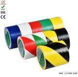 De dubbele Band van de Voorzichtigheid van pvc van de Kleur met Sterke Kleefstof voor de Waarschuwing van de Vloer (76mm*20m/30m)