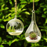 Votive электрическая лампочка держателя для свечи вися ясную стеклянную вазу Terrarium