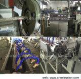 Linha reforçada fibra extrusora da extrusão da tubulação do PVC da tubulação da produção Line/6-16mm da mangueira de jardim
