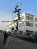 SGSは装飾のための8mの可動装置のアルミニウム足場を承認した