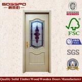 Modelos pintura blanca puerta de madera con vidrio esmerilado (GSP3-043)