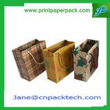Saco de papel do papel de embalagem de saco de compra das bolsas feitas sob encomenda do presente da forma