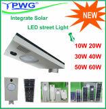 Интегрируйте солнечный уличный свет 30W