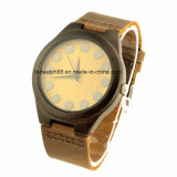 OEM van de Polshorloges van het leer de Houten Houten Horloges van de Charme met Uw Embleem