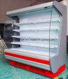 아크 측 유리의 슈퍼마켓 냉장고 진열장