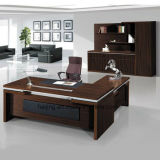 Mesa de escritório aberta de Malamine da cor da noz de Brown