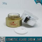 chocs vides givrés par 30ml en verre de crème de face de choc en verre cosmétique
