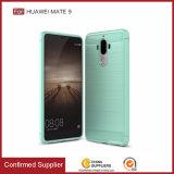 Caso della copertura della cassa del telefono pennello in fibra di carbonio del respingente di TPU per Huawei Mate 9