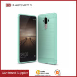 Caso de la cubierta de fibra de carbono Cepillo caja del teléfono de TPU de parachoques para el Huawei mate 9