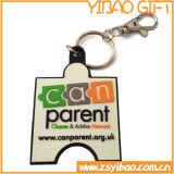 Porte-clés mou personnalisé de PVC pour les cadeaux promotionnels (YB-PK-03)