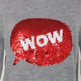 Regalo di natale di qualità acrilica Handfeel morbido del maglione del Ladeis
