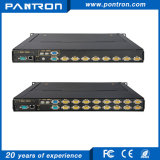 Sobre IP 8 port / 16port VGA 15 polegadas LED KVM switch