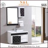 新しいデザイン流しとの木製の浴室の虚栄心