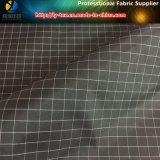 El hilado negro/blanco teñió la tela, 1 tela de la verificación del poliester de la guinga del cm (YD1182)