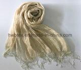 2017 signora naturale classica Linen Shawl/sciarpa (HL369) di modo