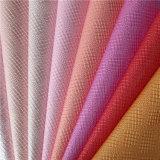Cuero material artificial de los bolsos y de zapatos de la PU con 25 colores disponibles