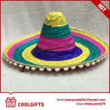 Chapéus de palha mexicanos da planície relativa à promoção da tira para o presente