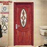 Portello su ordinazione di legno solido di vetro Tempered dell'inserto della stanza da bagno (GSP3-002)