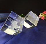 Stich-Würfel-Papiergewicht-Fertigkeit Laser-3D für Kristallgeschenk