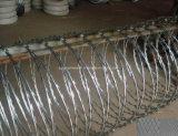 Électrique galvanisé/Chaud-A plongé le barbelé galvanisé de rasoir